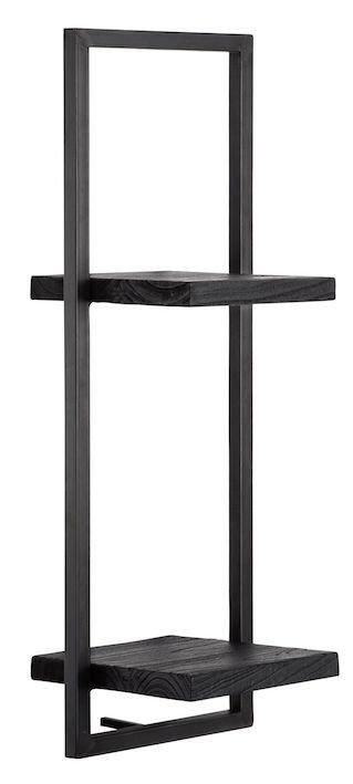Shelfmate Black, Regal Shelfmate D Zedrachholz, schwarz, 75x25x25cmm
