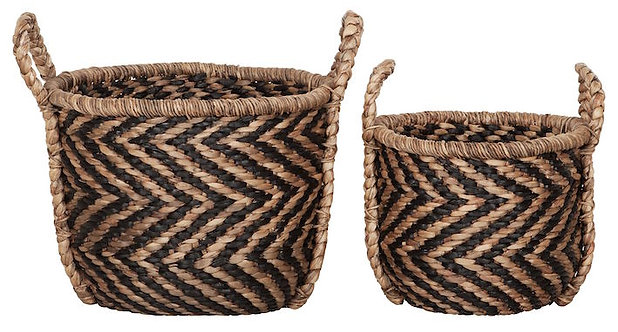 MUST LIVING, Baskets, Korb-Set Round XL, Naturfaser, 2er Set