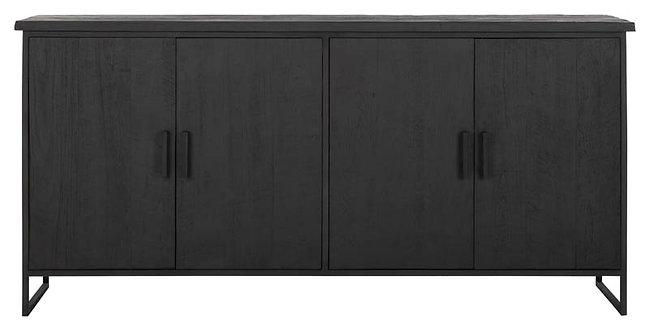 DTP Home Timeless Black, Sideboard Beam No.1, recyceltes Teakholz, 90x190x47cm