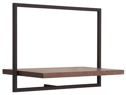 Shelfmate Walnut Black, Regal Shelfmate C, Walnussholz, schwarz, 35x50x25cm
