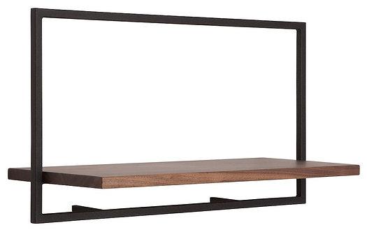 Shelfmate Walnut Black, Regal Shelfmate A, Walnussholz, schwarz, 35x65x25cm