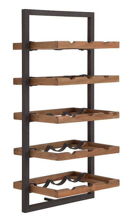 Shelfmate Natural, Regal Winemate E, recyceltes Teakholz, braun, 75x35x25cm