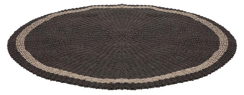 MUST LIVING, Teppich Prado, Naturfaser, schwarz, 150cm