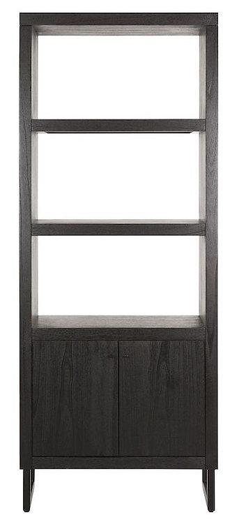 DTP Home, Regal Night, Zedrachholz, schwarz, 2-türig, 200x80x40cm