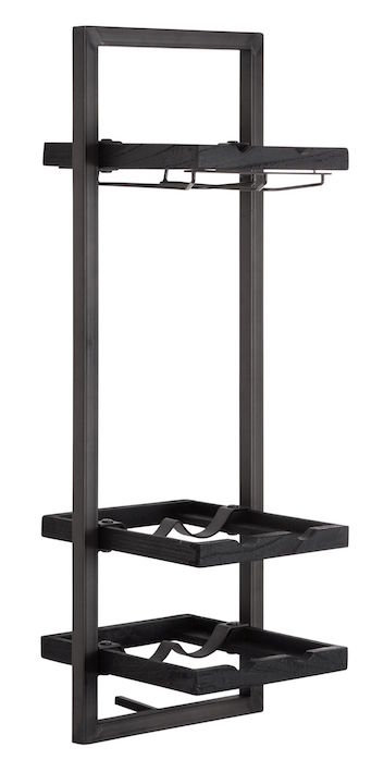 Shelfmate Black, Regal Winemate D, Zedrachholz, schwarz, 75x25x25cm