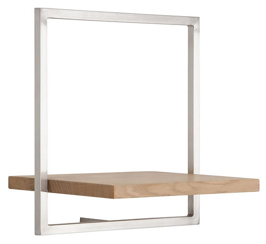 Shelfmate Oak Stainless, Regal Shelfmate B, Eichenholz, braun, 35x35x25cm