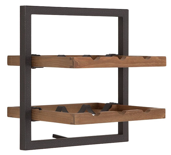 Shelfmate Natural, Regal Winemate B, recyceltes Teakholz, braun, 35x35x25cm