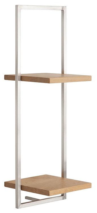 Shelfmate Oak Stainless, Regal Shelfmate D, Eichenholz, braun, 75x25x25cm