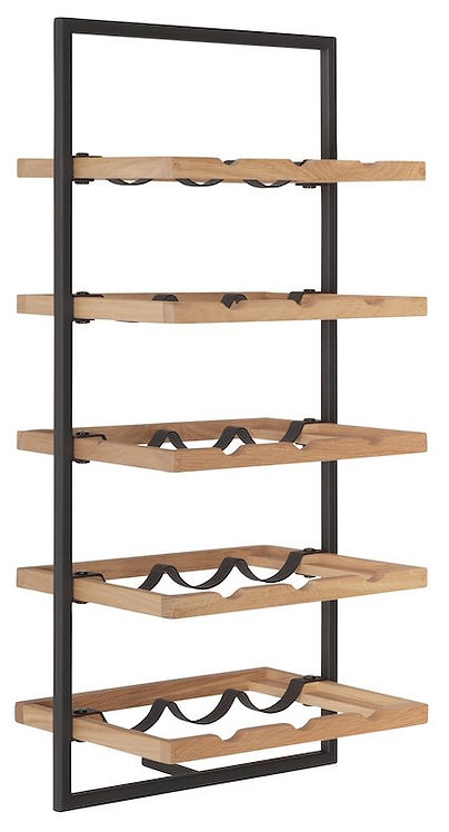 Shelfmate Oak Black, Regal Winemate E, Eichenholz, braun, 75x35x25cmcm