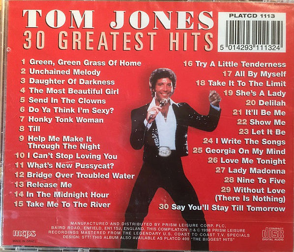 Tom Jones 30 greatest hits back cover.jp