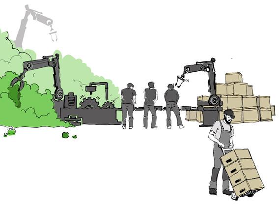 Produktion und Lieferung
