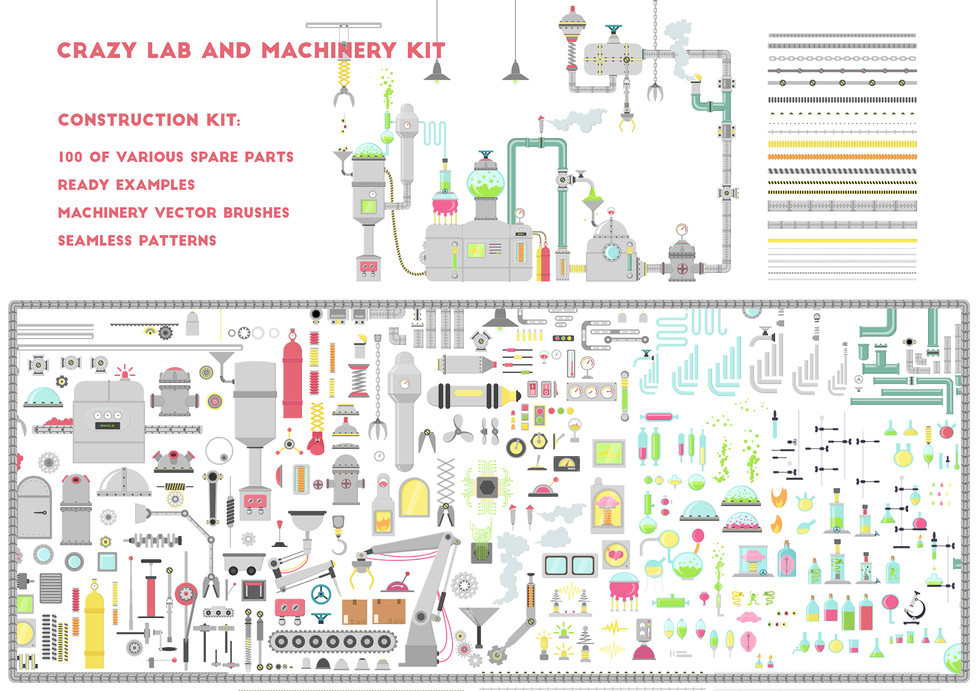 Crazy Lab and Machinery Kit