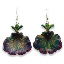 Purple Dancing Lady Earrings