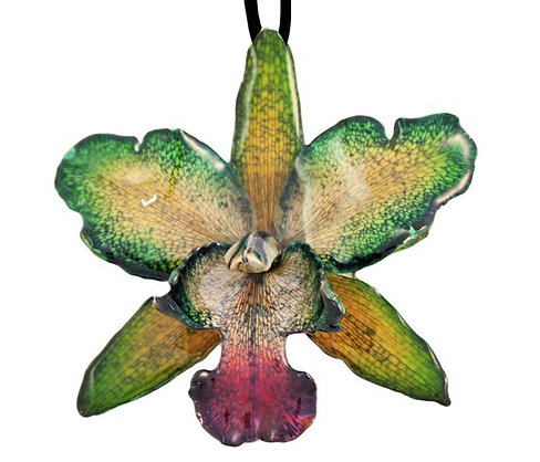 Green Cattleya Necklace