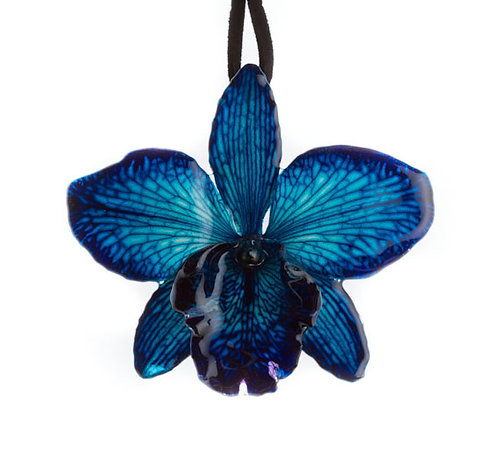 Blue Cattleya Necklace