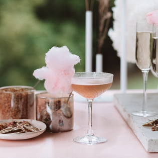 FLOSSY BYRON BAY Champagne and fairy floss cocktail