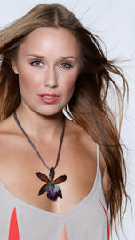 Blue Cattleya Necklace - Orchid Treasure