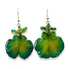 Green Dancing Lady Earrings