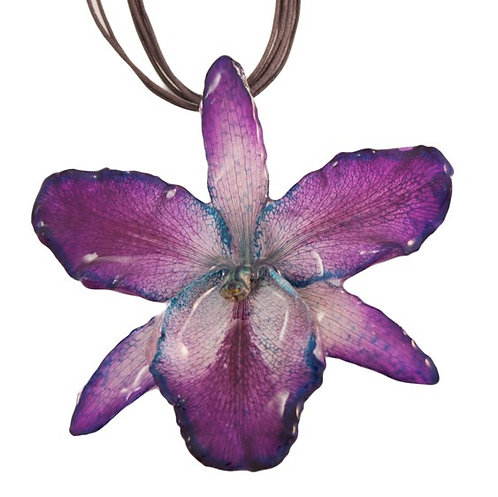 Purple Large Cattleya Necklace
