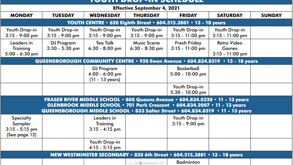 Fall Programs are Almost Here
