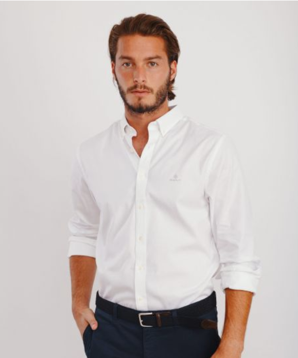 GANT חולצה מכופתרת לבנה