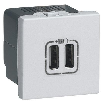 MOSAIC 2 X USB (A+A) 2,4A BRAN