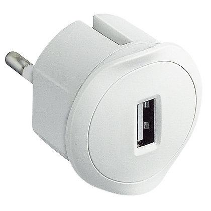 Ficha carregador USB branco