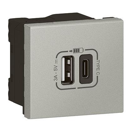 MOSAIC 2 X USB (A+C) LINK ALUM