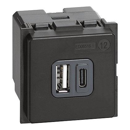 LNOW CARREG.USB (A + C) 3A 2MD