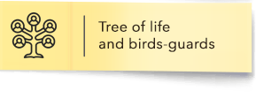 Tree of life and birds-guards