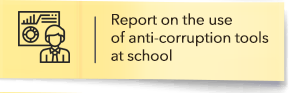 Report on the use of anti-corruption tools at school