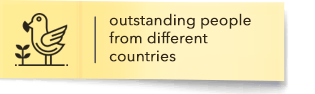 Outstanding people from different countries