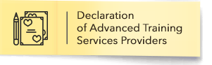 Declaration of Advanced Training Services Providers