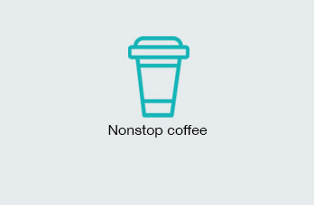 Nonstop coffee