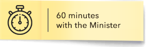 60 minutes with the Minister