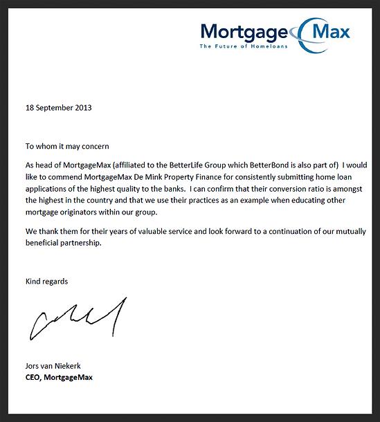De mink excellent home loans service