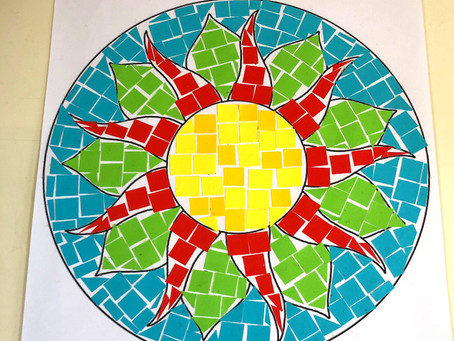 Make your own Paper Roman Mosaic