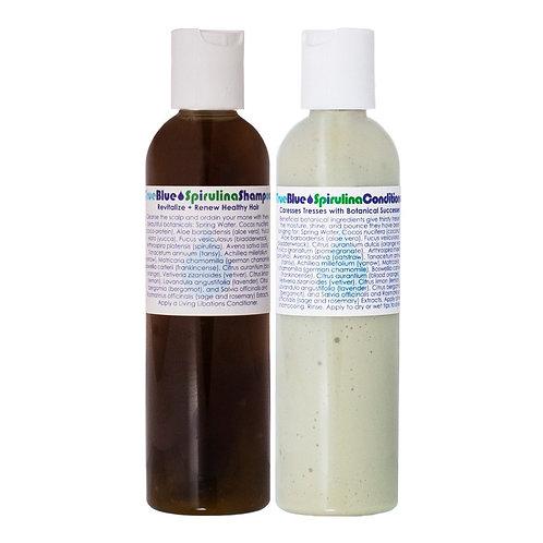 Living Libations True Blue Spirulina Shampoo & Conditioner DUO