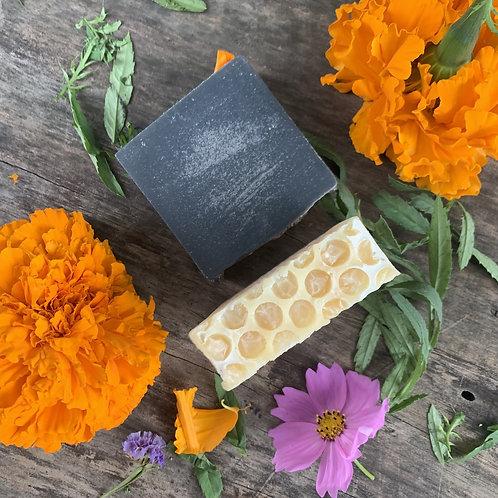 Flor Charcoal & Sage Honey Soap