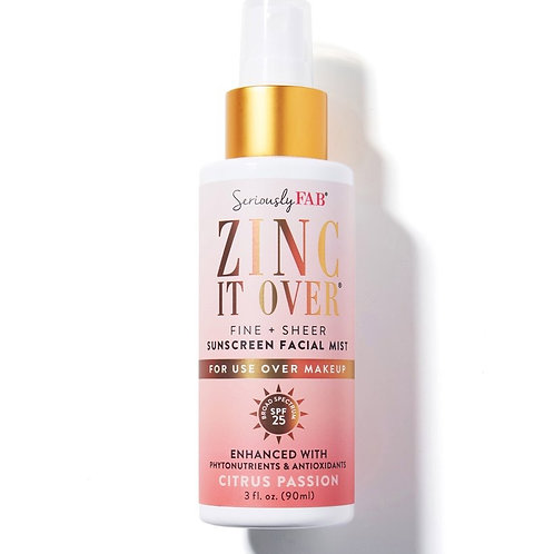 Seriously Fab Zinc It Over Citrus Passion SPF Mist