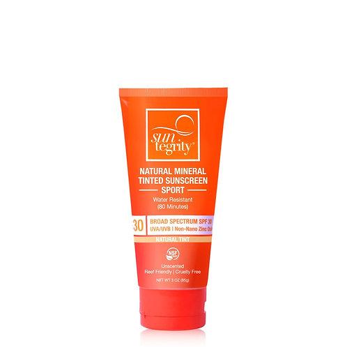 Suntegrity Sport Natural Mineral Tinted Sunscreen, 3oz. - Broad Spectrum SPF 30