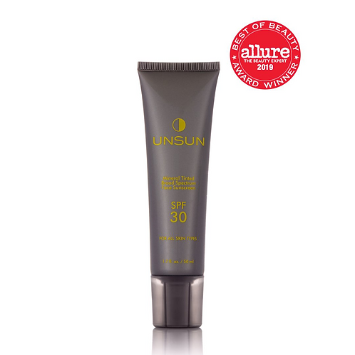 "Unsun Mineral Tinted Face Sunscreen In ""Medium/Dark"""