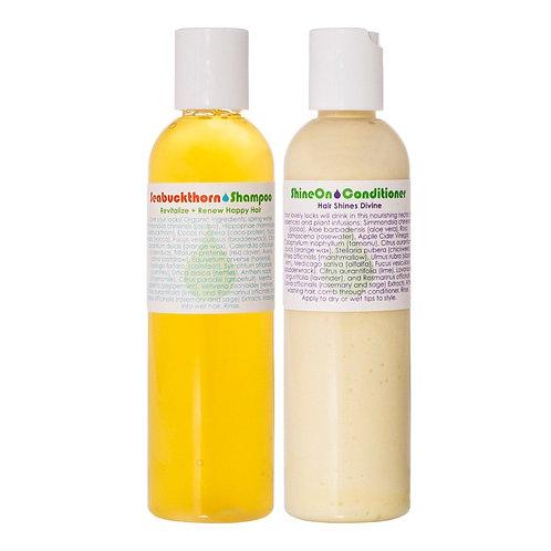 Living Libations Seabuckthorn Shampoo & Shine On Conditioner DUO
