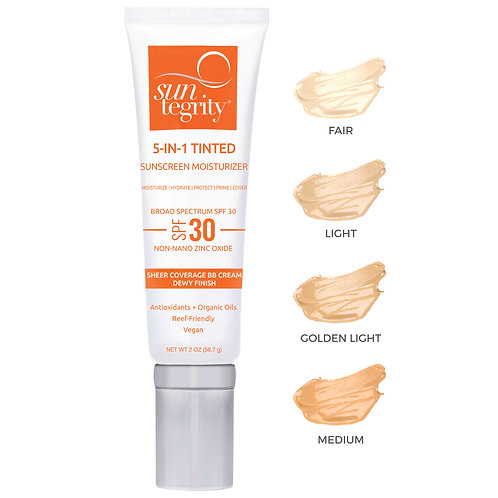 """Suntegrity """"5 In 1"""" Natural Moisturizing Face Sunscreen - Tinted, Broad Spectrum"""