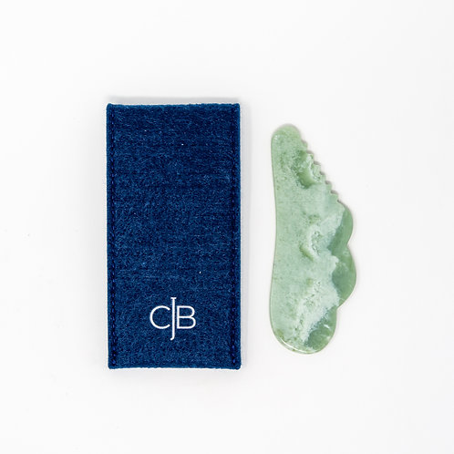 CJB Pocket Jade Gua Sha with Ridges