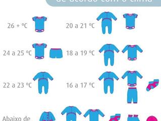 Como vestir o seu bebê de acordo com o clima