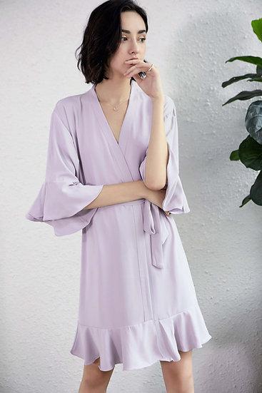 Light Lilac Ruffle Robe