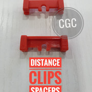 DISTANCE CLIPS SPACERS RED