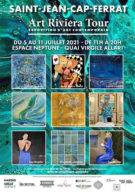 Affiche Art Riviera Tour 2021 A3 297 x 4