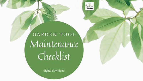 Garden Tool Maintenance Checklist